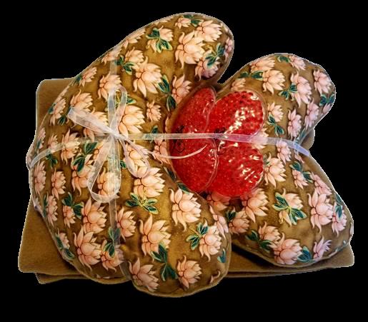 Lotus pillows, blanket & warming pads set