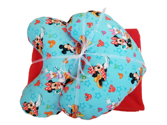 Micky & Minnie Pillow & Blanket Set