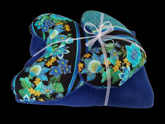 Regal Blue Pillow & Blanket Set