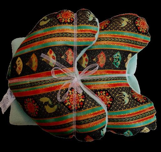 Asian Flare Pillow & Blanket Set