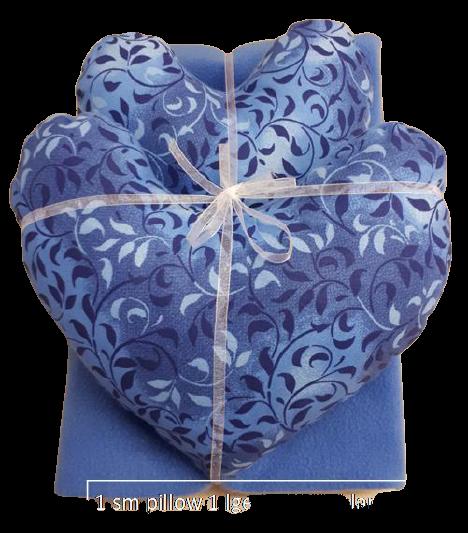 Blue Leaves Pillow & Blanket Set
