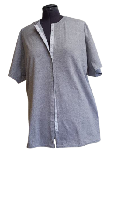 Grey front opening shirt