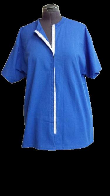 Royal blue front opening shirt