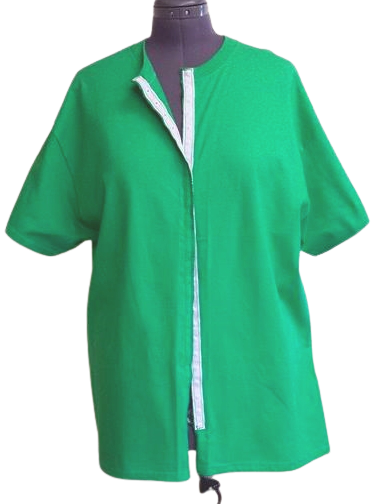 Green front opening shirt