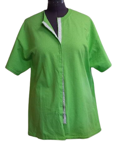 Lime green front opening shirt