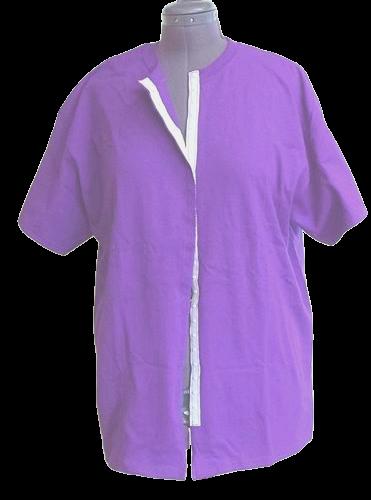 Purple front opening shirt