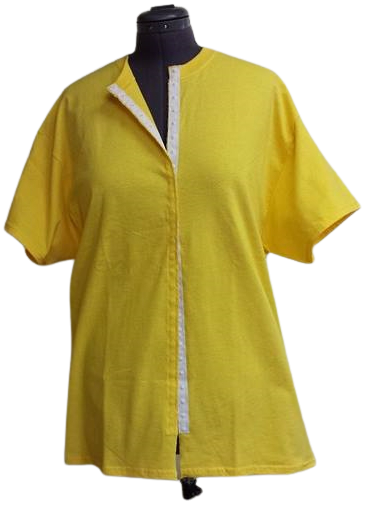 Yellow front opening shirt
